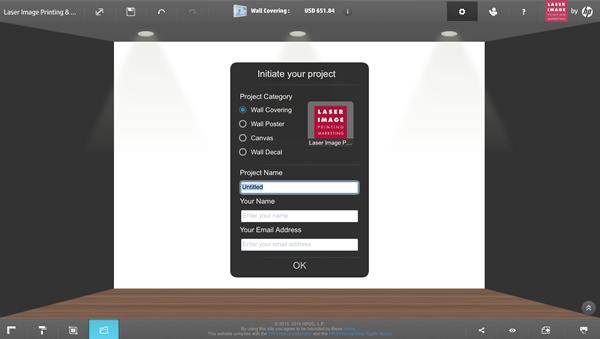 HP WallArt designer software
