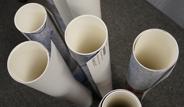 Wall covering rolls printed on an HP L360 latex printer