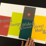 Assembling die-cut box, custom printed on hp Indigo press, used as dimensional mailer in 12-Touch prospecting campaign