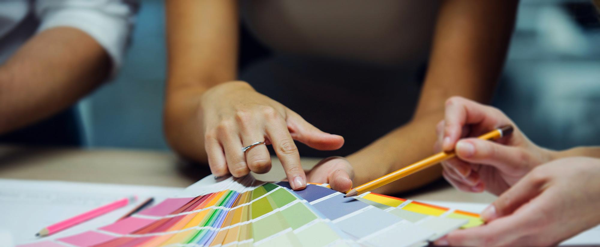 Pantone color strips