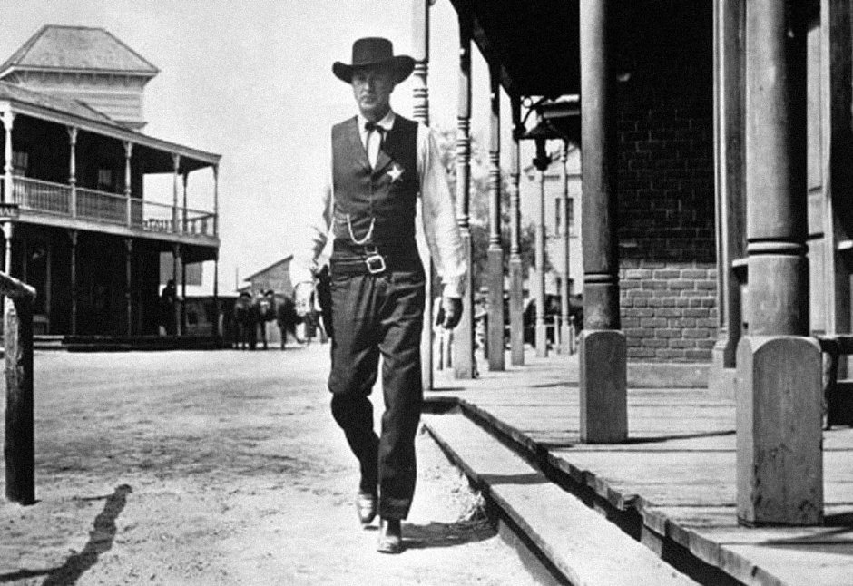 picture of sheriff walking through town